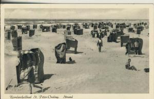 St. Peter Ording v. 1954 Strand mit Strandkörbe (AK1720)