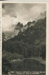 Laghetto pr. Fie Allo Sciliar - Weiher bei Völs am Schlern v. 1954  (AK1873)