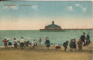 Scheveningen v. 1925 Strandgezicht mit Kinder (AK2002)