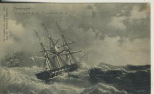 Zandvoort v. 1904 Schipbruck b. d. Hollandsche Kust (AK2018)