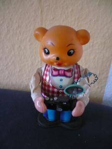 mechan. Reporter - Schlüsselwerk - Blechspielzeug (mit Kunststoffkopf) - (659)