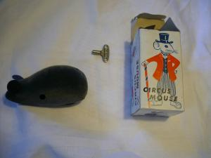 mechan. CIRCUS MOUSE mit Schlüssel in OVP - Schlüsselwerk (660)