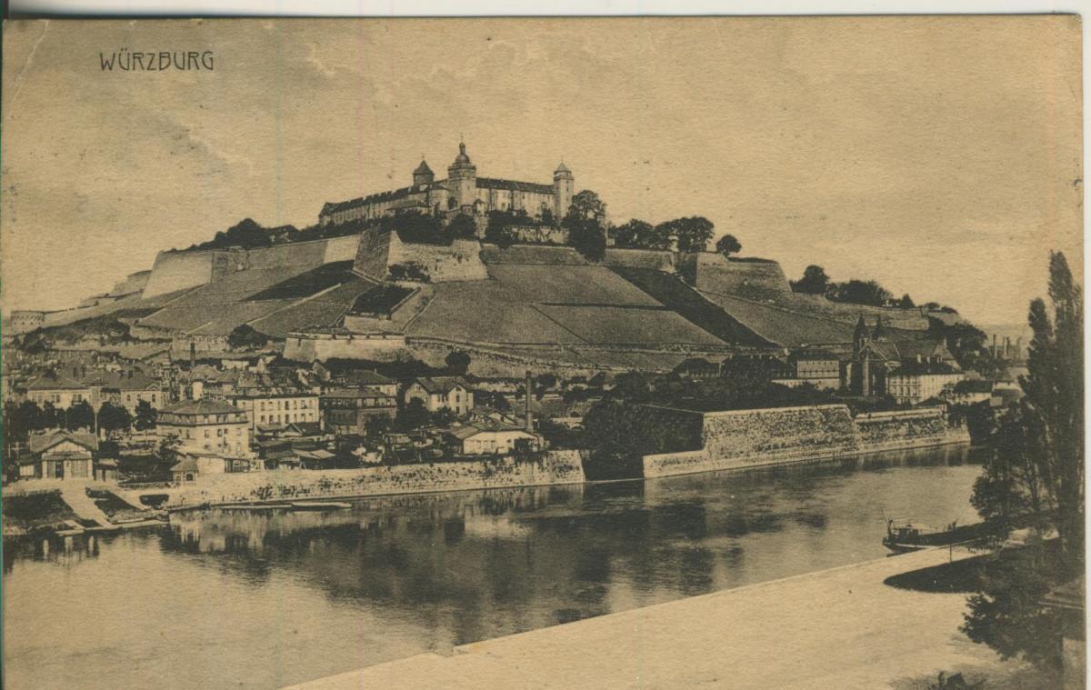 Würzburg v. 1912 Teil-Stadt-Ansicht (AK2174) 0