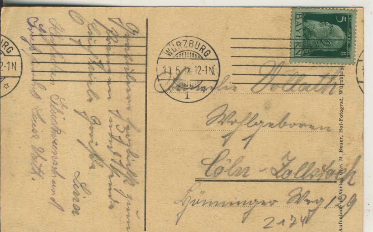 Würzburg v. 1912 Teil-Stadt-Ansicht (AK2174) 1