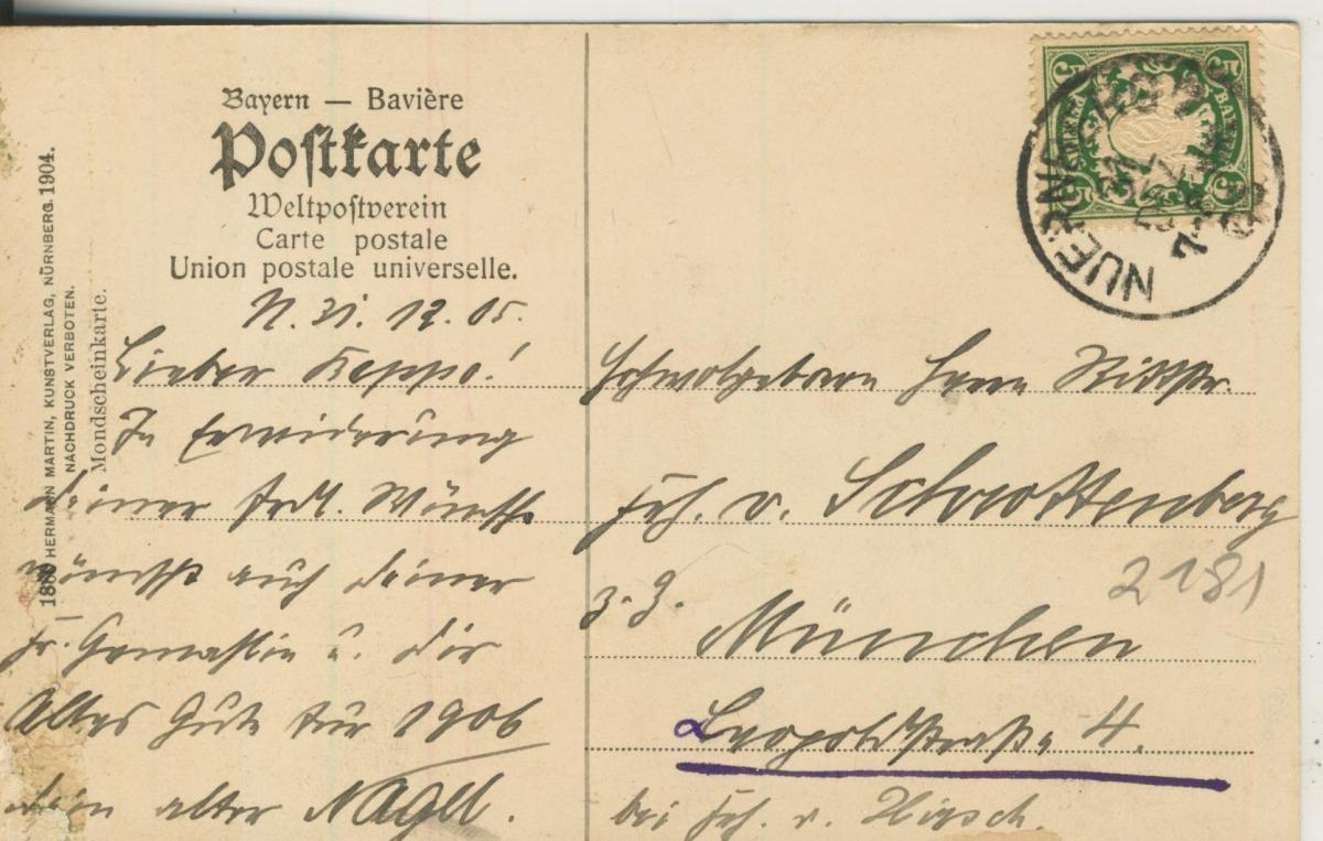Nürnberg v. 1905 Freiburg (AK2181) 1
