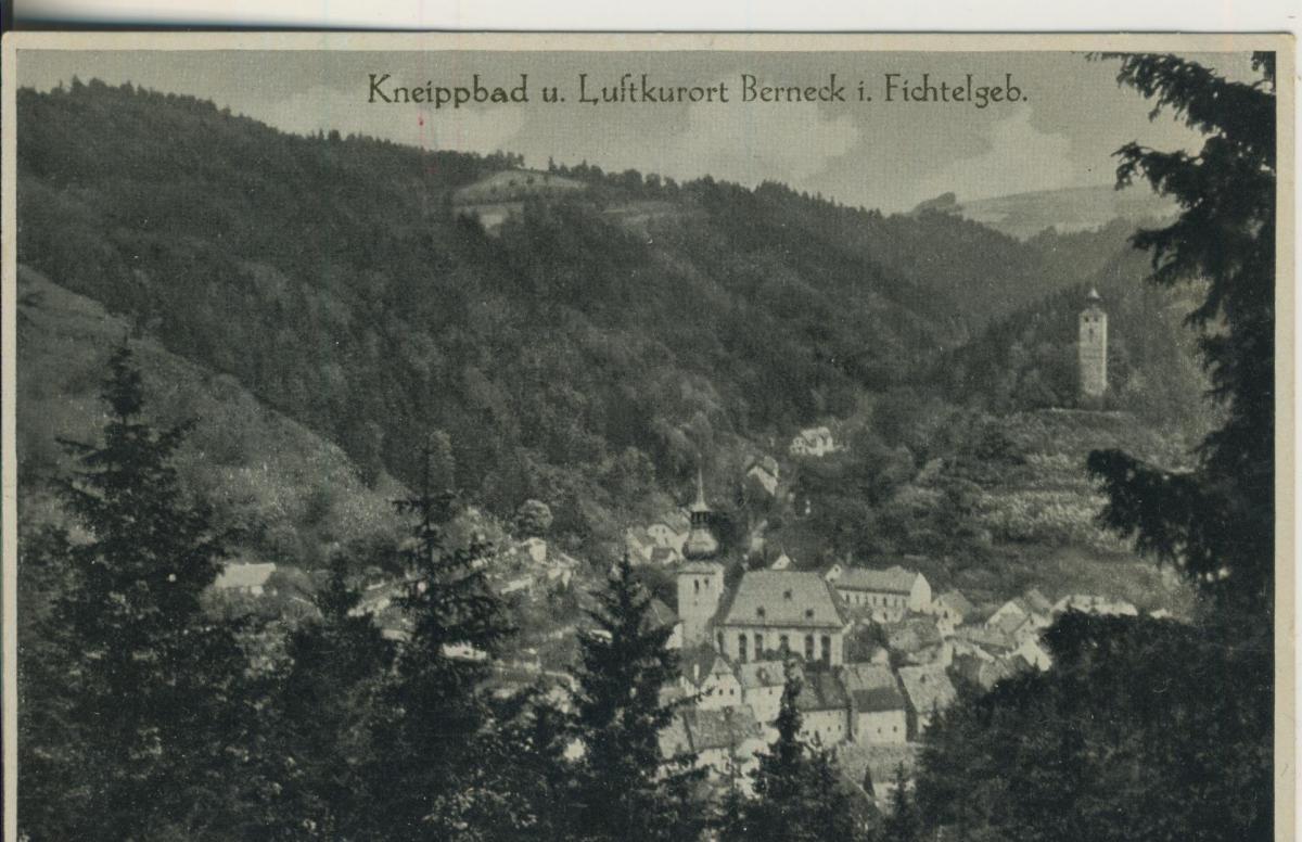 Berneck im Fichtelgebirge v. 1934 Dorf-Ansicht (AK2190) 0