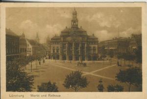 Lüneburg v. 1927 Markt und Rathaus (AK2257)
