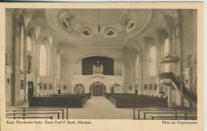 Solln v. 1955 Kath. Pfarrkirche Solln,Entwurf Prof.F.Rank -- Blick zur Orgel (AK2261)