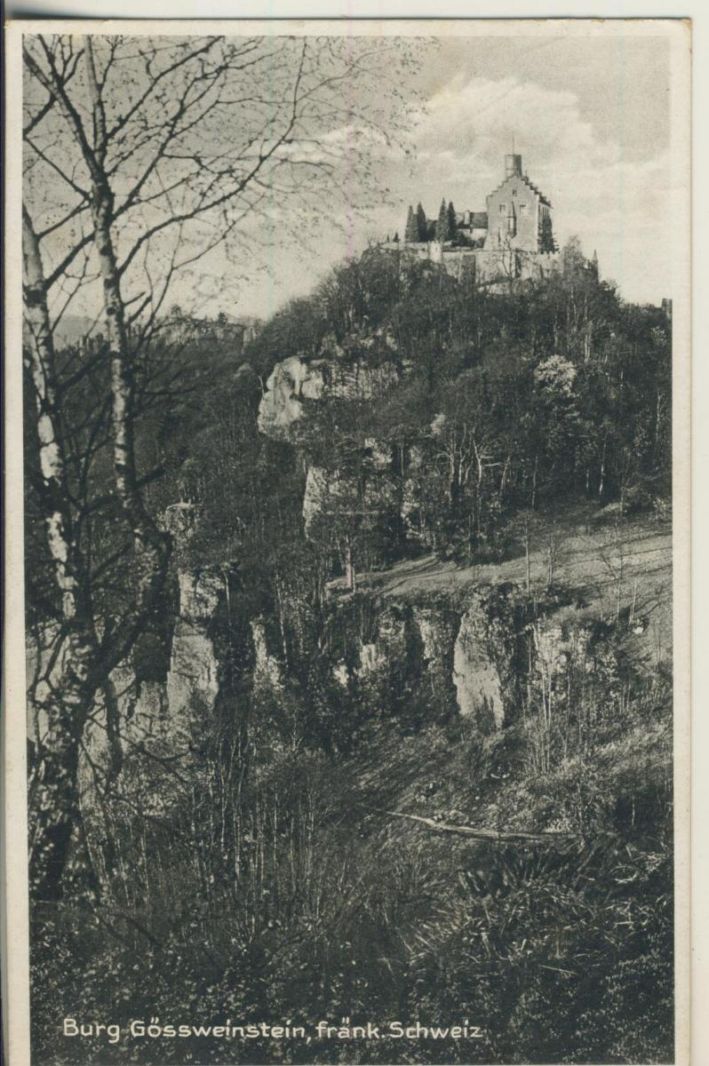 Burg Gössweinstein v. 1929 (AK2268) 0