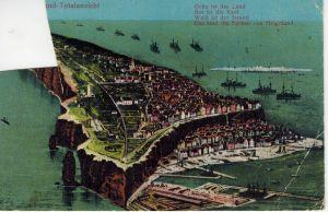 AK Helgoland, Totalansicht, 1919 gelaufen ohne Marke