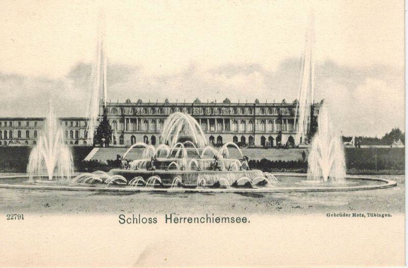 AK Herrenchiemsee, Chiemsee, Schloß, ca. 1910er ungelaufen