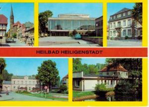 AK Heiligenstadt, Heilbad, Eichsfeld, Ansichten, Am Berge, Kreiskulturhaus, Rathaus, Bahnhof, Kneippbad, 1981 gelaufen mit Marke