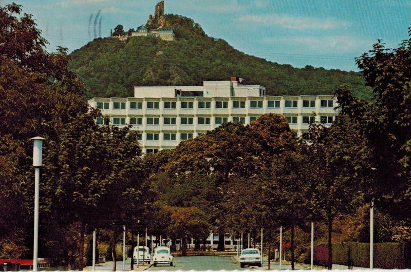 AK Bad Honnef, Drachenfels, Kurklinik, 1976 gelaufen mit Marke+Sonderstempel