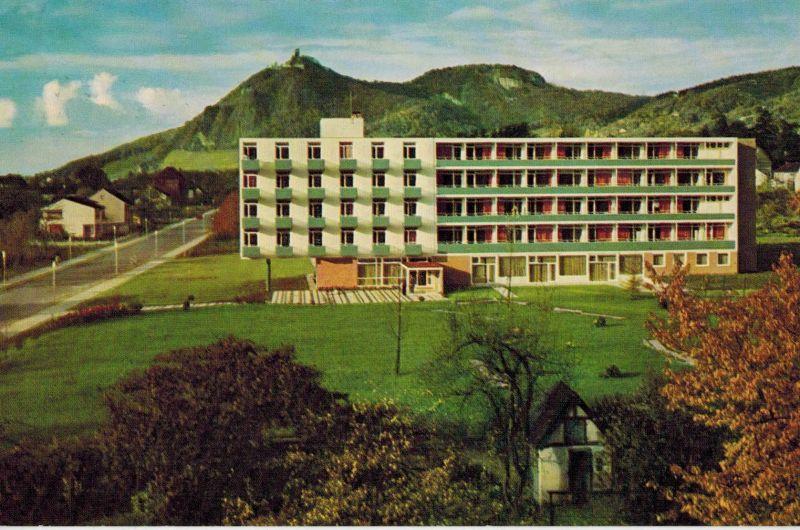 AK Bad Honnef, Drachenfels, Siebengebirge, Kurklinik, 1977 gelaufen mit Marke+Sonderstempel