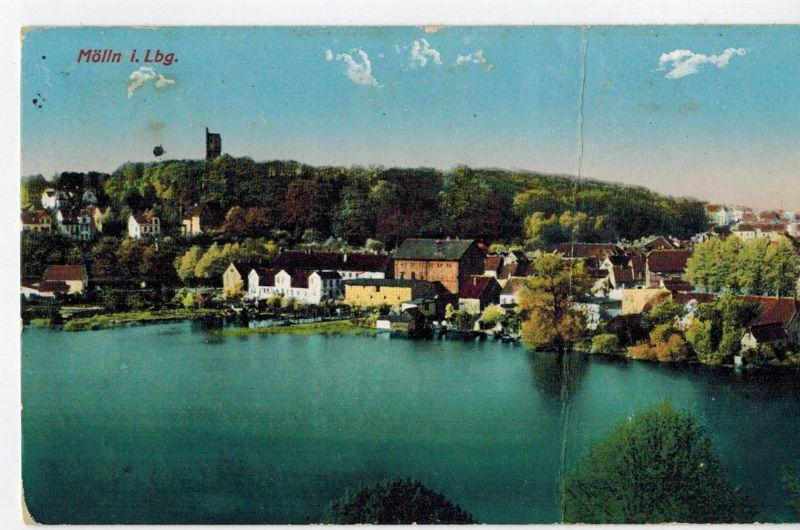 AK Mölln, Lauenburg, Ansicht, Stadtsee, 1912 gelaufen mit Marke