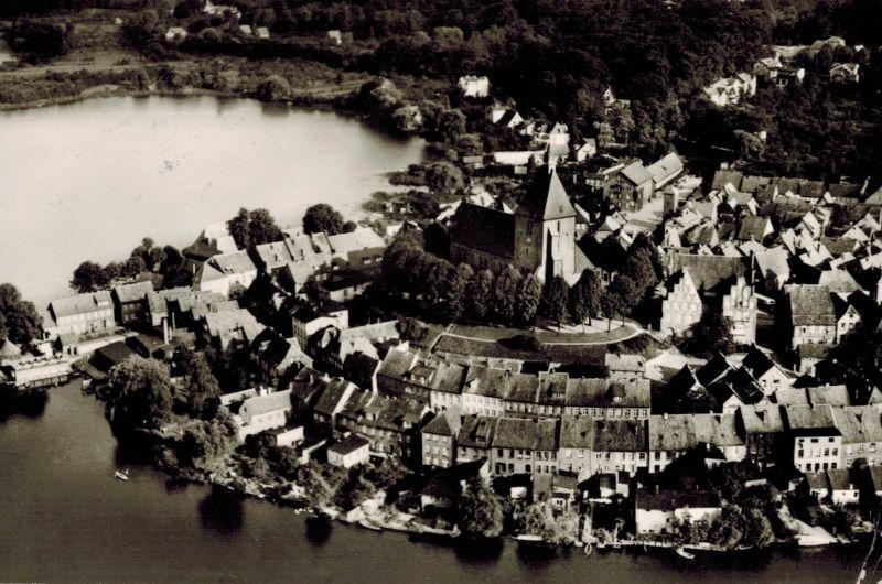 AK Mölln, Lauenburg, Ansicht, Stadtsee, 1976 gelaufen mit Sondermarke