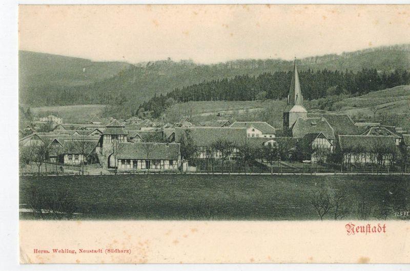 AK Neustadt, Harz, Hohnstein, Südharz, Nordhausen, Ansicht, ca. 1910er Jahre, ungelaufen