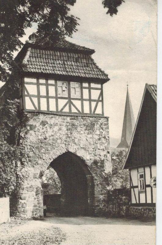 AK Neustadt, Harz, Hohnstein, Südharz, Nordhausen, Stadttor, 1980 gelaufen mit Marke