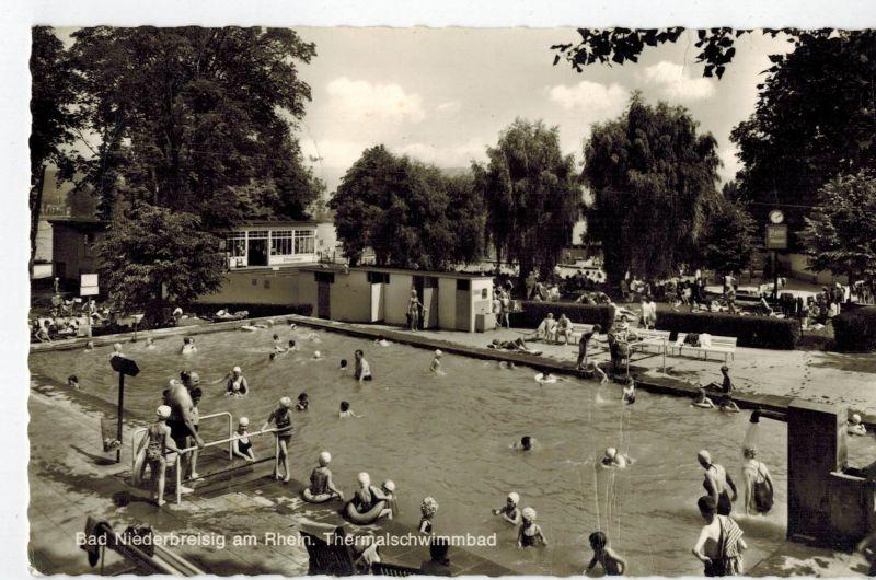 AK Bad Breisig, Bad Niederbreisig, Rhein, Thermalschwimmbad, 1971 gelaufen mit Marke