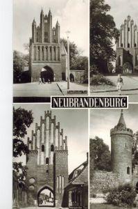 AK Neubrandenburg, Mecklenburg, Neues Tor, Friedländer Tor, Stargarder Tor, Mönckenturm, 1983 gelaufen mit Marke