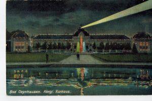 AK Bad Oeynhausen, Königliches Kurhaus, bei Nacht, koloriert, 1913 gelaufen mit Marke