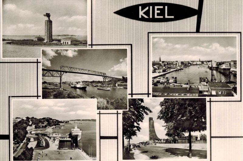 AK Kiel, Ansichten, 1964 gelaufen mit Marke 0