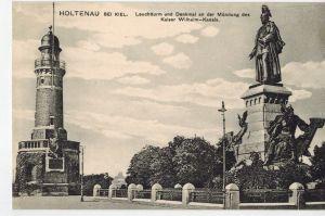 AK Kiel, Holtenau, Leuchtturm, Denkmal, Kaiser-Wilhelm-Kanal, 1910er Jahre, ungelaufen