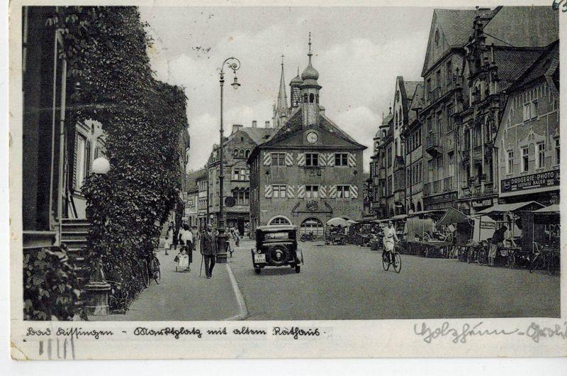 AK Bad Kissingen, Marktplatz, altes Rathaus, 1941 gelaufen mit Marke