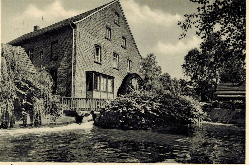 AK Schwalmtal, Lüttelforster Mühle, Gaststätte, 1959 gelaufen mit Marken