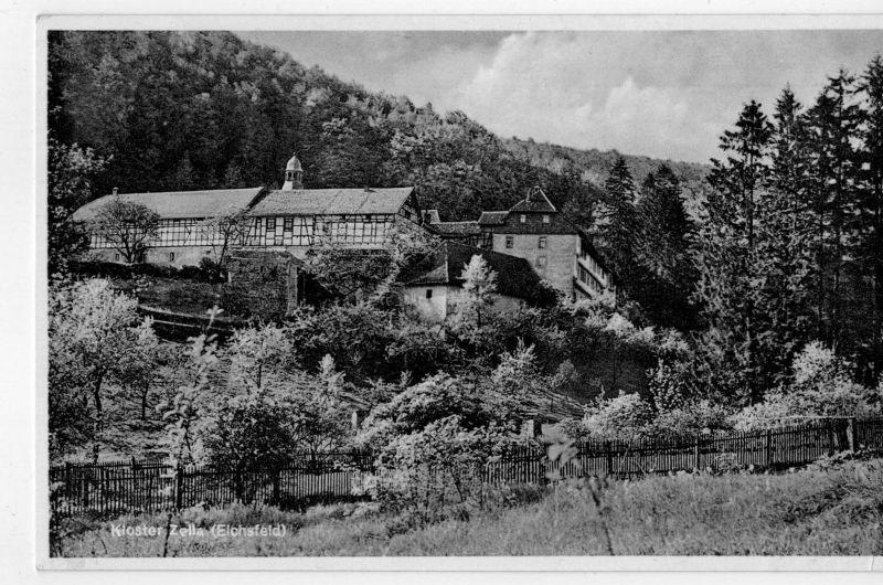 AK Rodeberg, Südeichsfeld, Struth, Kloster Zella, Frieda, 1940 gelaufen mit Marke
