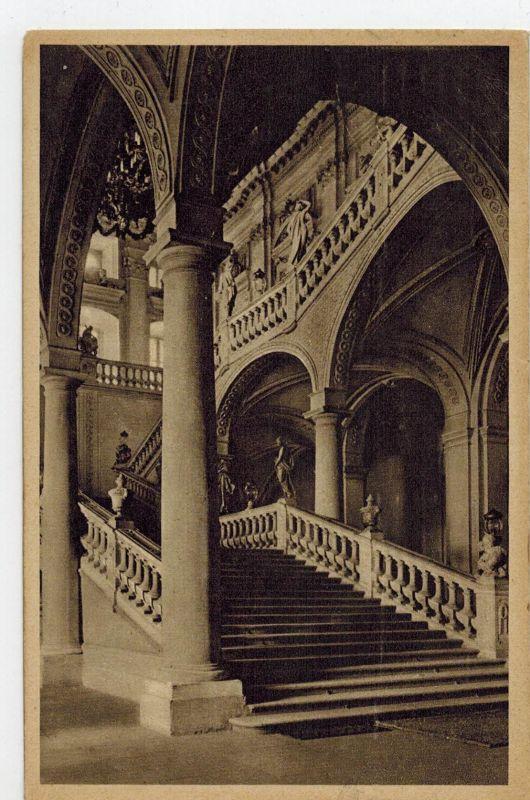 AK Würzburg, königliche Residenz, Treppenhaus, 1921 gelaufen ohne Marke