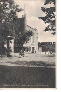 AK Weißenfels, Gloriapalast, Merseburger Straße, ca. 1934 gelaufen mit Marke