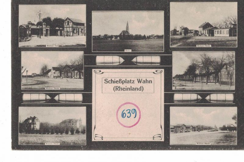 AK Köln, Wahn, Wahner Heide, Schießplatz, Ansichten, 1918 gelaufen ohne Marke, Feldpost