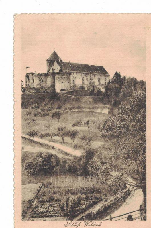 AK Waldeck, Schloß, Hotel, Restaurant, 1916 gelaufen ohne Marke, Feldpost