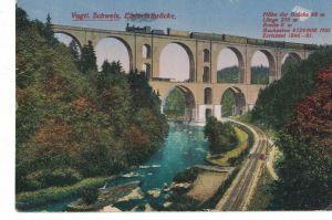 AK Pöhl, Jocketa, Elstertalbrücke, Vogtland, Vogtländische Schweiz, 1921 gelaufen, mit Marke