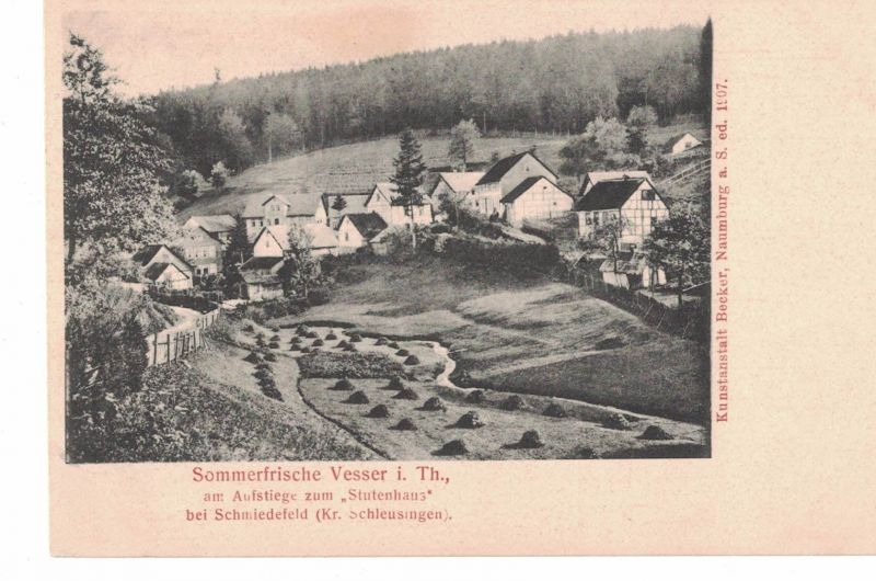 AK Suhl, Vesser, Thüringen, Kreis Schleusingen, bei Schmiedefeld, Stutenhaus, Sommerfrische, ca. 1900-1910 ungelaufen