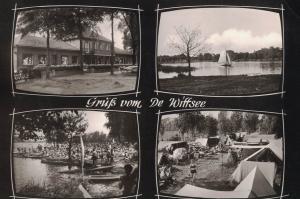 AK Nettetal, Kaldenkirchen, Strandhotel, De Wittsee, Leuth, Holland, Grenze, Campingplatz, 1961 gelaufen mit Marke