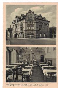 AK Waltershausen, Thüringen, Café Jungheinrich, Bahnhofstr., 1955 gelaufen mit Marke + Sonderstempel