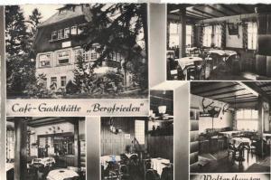AK Waltershausen, Thüringen, Schnepfenthal, Café Bergfrieden, Gaststätte, 1963 gelaufen ohne Marke