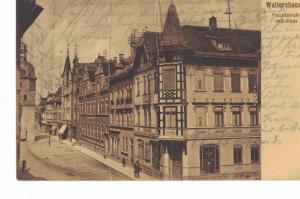 AK Waltershausen, Thüringen, Post, Hauptstr., 1915 gelaufen ohne Marke (Feldpost)