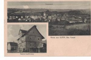 AK Sontra, Ulfen, Gasthof Stauffenberg, Ansicht, 1920 gelaufen mit Marke