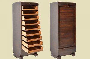 Antik Art Deco Bauhaus Rolladenschrank Notenschrank von 1920 0