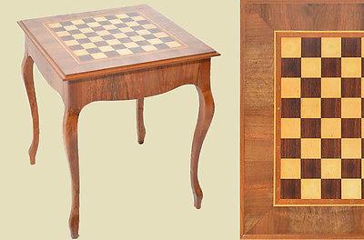 Antik Louis Philippe Nußbaum Beistelltisch Schachbrett Schachtisch Spieltisch