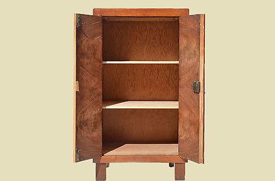 antike art deco nu baum halbschrank kommode von 1920 aus diverse. Black Bedroom Furniture Sets. Home Design Ideas