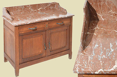 Antik Jugendstil Art Deco Waschtisch Kommode Mit Marmor Von 1910