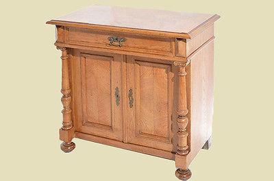 antike gr nderzeit eiche hell halbschrank kommode von 1880 aus g. Black Bedroom Furniture Sets. Home Design Ideas