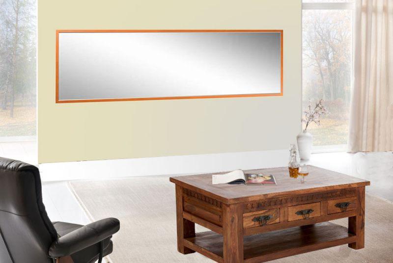 Großer XXL Art Deco Kristallglas Spiegel Wandspiegel Raumvergrößerer 256 x 83 cm