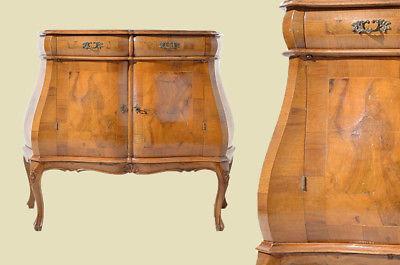 Antik Mahagoni Intarsien Barock Kommode