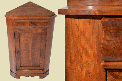 Antiker Biedermeier Schrank Kommode Vertiko Eckschrank von 1820 0
