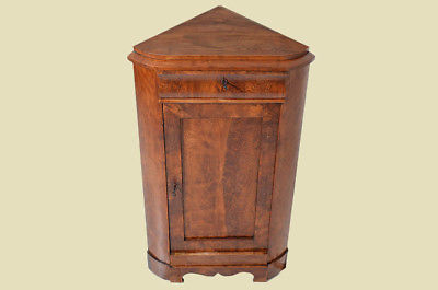 Antiker Biedermeier Schrank Kommode Vertiko Eckschrank von 1820 1